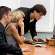 Stock Photo: Business team working in office