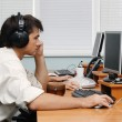 Customer service opetators at work — Stock Photo