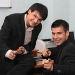 Two joyful businessmen — Stock Photo