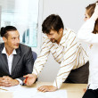 Royalty-Free Stock Photo: Business team having a discussion