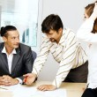 Stock Photo: Business team having a discussion