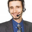 Young handsome customer service operator — Stock Photo #5727030