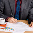 Young handsome businessman working with documents — Stock Photo #5727071