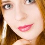 Closeup portrait of a beautiful young woman — Stock Photo #5727290