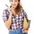 Lovely student girl — Stock Photo