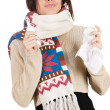 cute young woman havign caught cold — Stock Photo #5727812