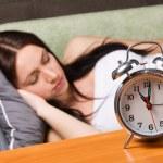 Beautiful woman sleeping — Stock Photo #5727902