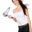 Woman with a hair dryer — Stock Photo #5727921