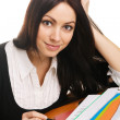 Charming young businesswoman — Stock Photo