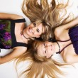 Two cheerful beautiful girls — Stock Photo