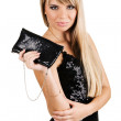 Charming young woman with fancy-bag — Stock Photo #5728408