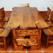 Hand-made large kitchen table — Stock Photo #5728467