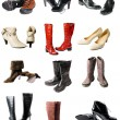 Collection of modern footwear - 