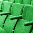 Empty cinema auditorium background - Stock Photo