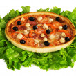 Royalty-Free Stock Photo: Pizza on a leaves of  lettuce