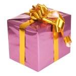 Purple gift box — Stock Photo