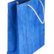 Blue gift bag — Stockfoto