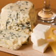 Different cheese types cloesup - Foto Stock