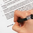 Signing a generic license agreement — Stock Photo