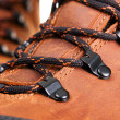 Closeup photo of shoelaces - Stock Photo