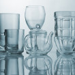 Set of glass dishes — Stock Photo