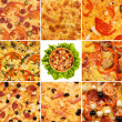 conjunto de pizza — Foto Stock