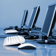 Computers standing in a row — Stock Photo