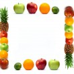 Frame made of fresh fruit — Stock Photo #5729617