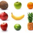 Collection of fresh ripe fruit - Stock Photo