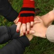 Closeup of hands held together — Stock Photo #5729676