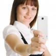 Young woman with a mobile phone — Stock Photo #5729965