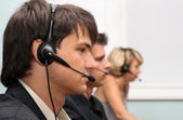 Customer service operators — Stockfoto