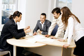Business team having a discussion — Stock Photo