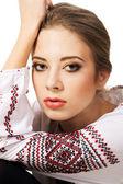 Young beautiful woman's portrait — Stock Photo