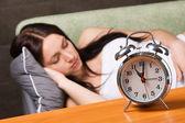 Beautiful woman sleeping — Stock Photo