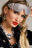Beautiful woman with creative makeup — Stock Photo