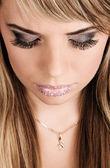 Belle demoiselle avec maquillage créatif — Photo