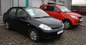 Two new cars for sale — Zdjęcie stockowe
