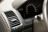 Car dashboard closeup view — Stock Photo