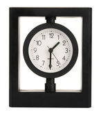 Black modern clock — Stock Photo