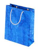 Mavi hediye çanta — Stok fotoğraf