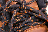 Shoelaces cloesup photo — Stock Photo