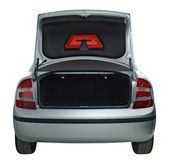 Rear view of a car with an open trunk — Stock Photo