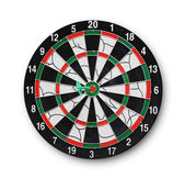 Darts board with a dart in the center — Stock Photo