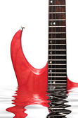 Toned maple electric guitar closeup — Stock Photo