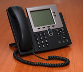 IP Phone on a table — Stock Photo