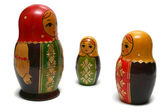 Three russian dolls — Stock Photo