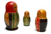 Three russian dolls — Stock Photo
