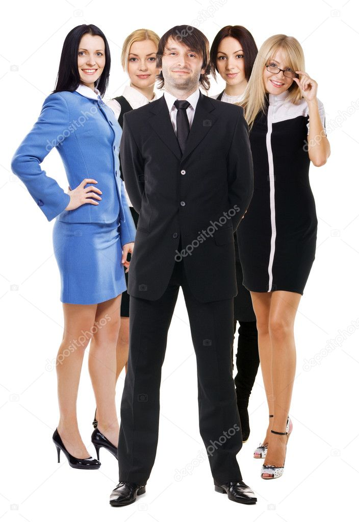 Group of young business on white background — Stock Photo #5726725