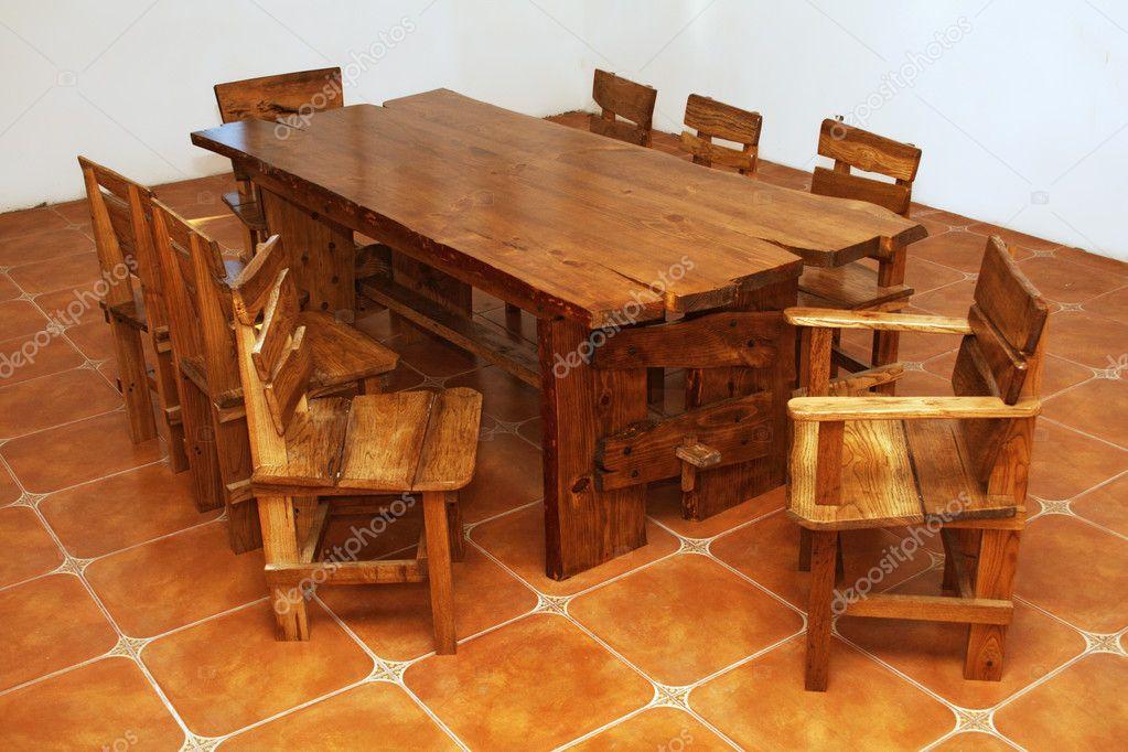 Изготовление столов из досок